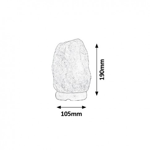 Veioza de sare Rocky 4120, 1 x E14, 15W, portocalie