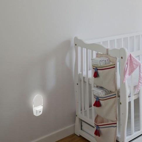 Lampa de veghe Rabalux 4658 Paris Lux, 0.5W, cu senzor de lumina, alimentare priza