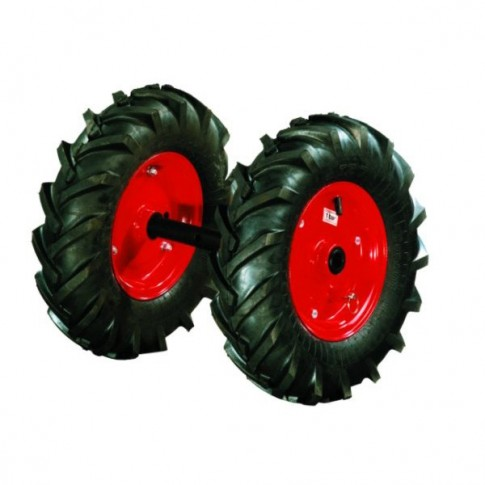 Roti cauciuc pentru motocultor Bronto, D 40 cm (1 bucata = 1 set 2 roti)