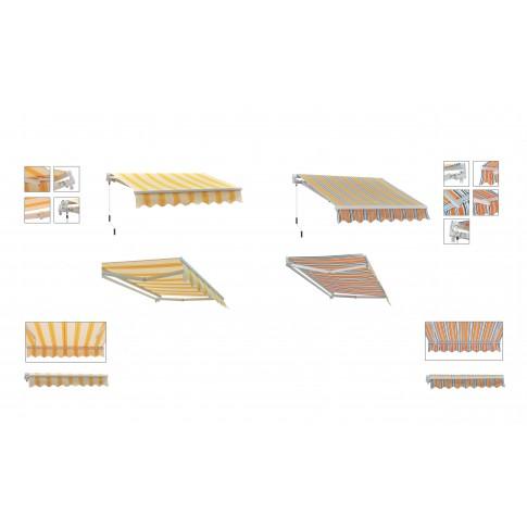 Copertina retractabila, actionata manual, 2.95 x 2 m, beige