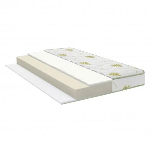 Saltea pat Bedora Ecoline, ortopedica, cu spuma poliuretanica, fara arcuri, 150 x 200 cm + perne Aloe Vera