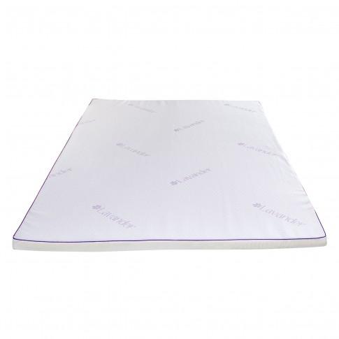 Topper saltea Bedora Dual Confort Lavanda Therapy Memory, cu spuma poliuretanica + memory, 160 x 200 cm