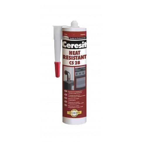 Silicon Ceresit CS 28, rosu, rezistent la temperatura, 300 ml