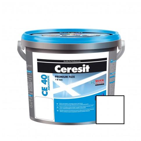 Chit de rosturi gresie si faianta Ceresit CE 40, alb 01, interior / exterior, 5 kg