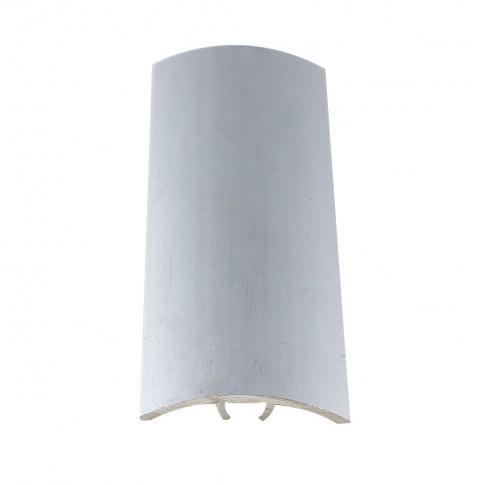 Profil aluminiu de trecere, diferenta de nivel, Davo Pro argintiu, 30 mm, 2.7 m