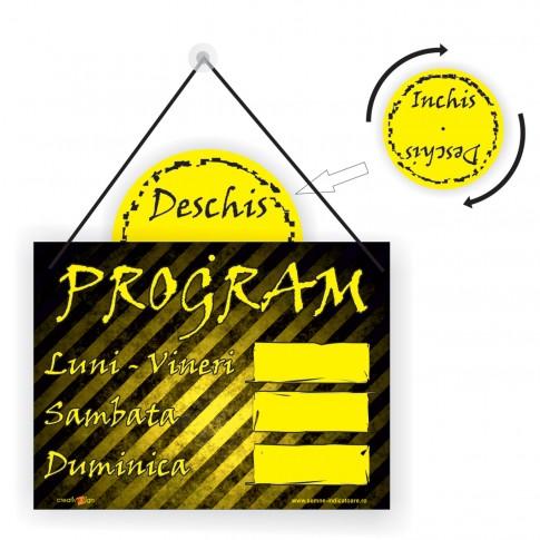 Indicator informare Inchis/ Deschis, PVC, 20 x 20 cm