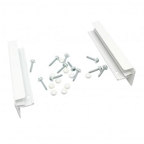 Accesorii pentru glafuri aluminiu, capace + suruburi + capacele mascare, alb RAL 9016, 24 cm