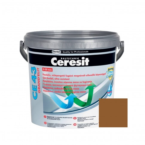 Chit de rosturi gresie si faianta Ceresit CE 43, terra, interior / exterior, 5 kg