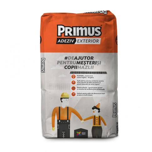 Adeziv flexibil pentru gresie si faianta Primus ExtraFlex, exterior, gri, 25 kg
