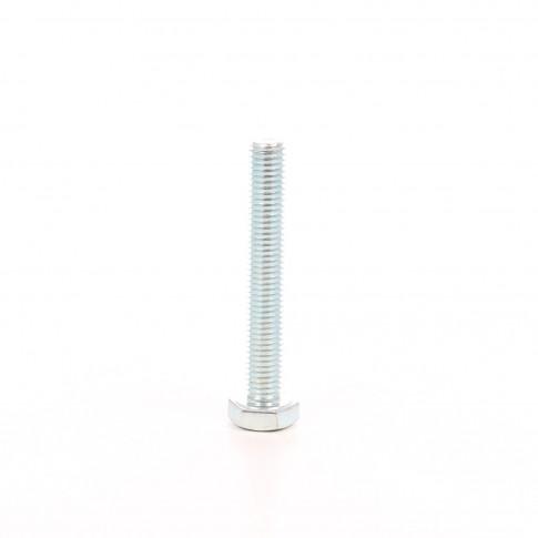 Surub cu cap hexagonal, filetat complet, otel, zincat alb, DIN933-8.8, M10 x 80 mm