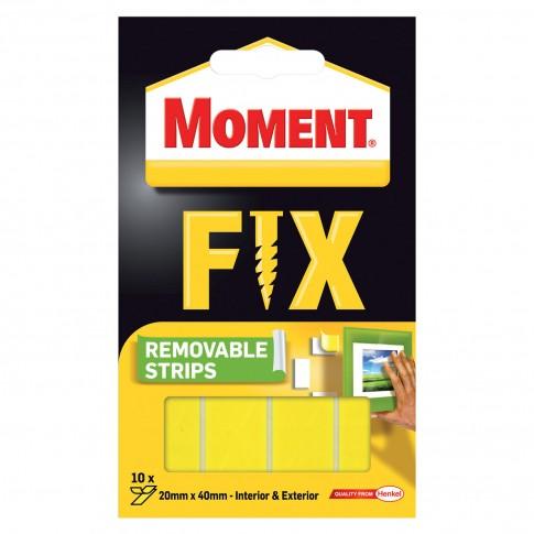Benzi dublu adezive pentru fixare, detasabile, Moment Fix, set 10 buc.