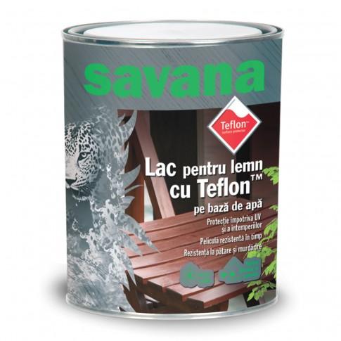 Lac pentru lemn Savana, incolor, pe baza de apa, interior / exterior, 2.5 L