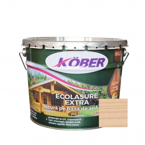 Lac / lazura 3 in 1 pentru lemn, Kober Ecolasure Extra, incolor, pe baza de apa, interior / exterior, 10 L