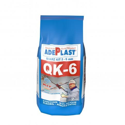 Chit de rosturi gresie si faianta Adeplast Quarz Kit QK - 6, albastru inchis, interior / exterior, 2 kg