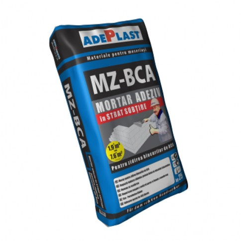 Mortar pentru zidarie, Adeplast MZ - BCA, gri, exterior, 25 kg