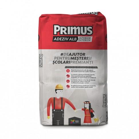 Adeziv pentru gresie si faianta Primus MacroGranular, interior / exterior, alb, 25 kg