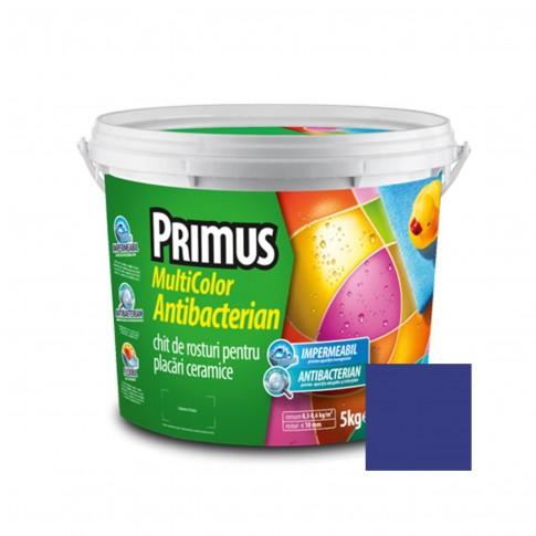 Chit de rosturi gresie si faianta Primus Multicolor Antibacterian B37 azurite, interior / exterior, 5 kg