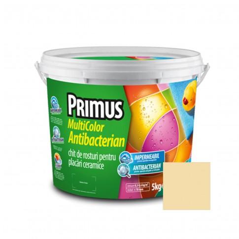 Chit de rosturi gresie si faianta Primus Multicolor Antibacterian B03 papyrus, interior / exterior, 5 kg