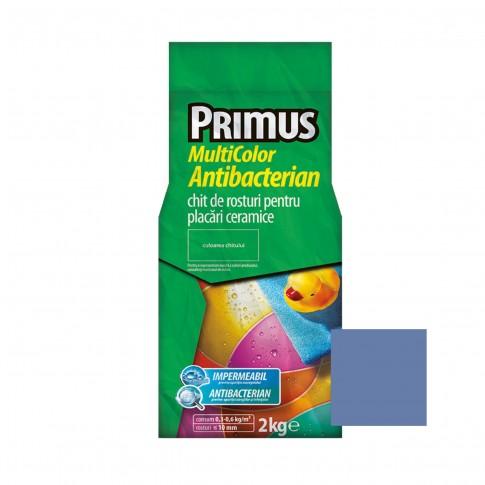 Chit de rosturi gresie si faianta Primus Multicolor Antibacterian B37 azurite, interior / exterior, 2 kg