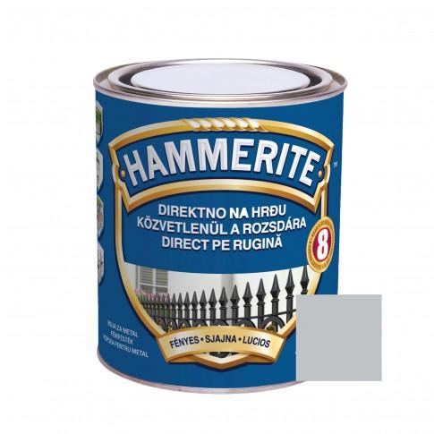 Vopsea alchidica pentru metal Hammerite - efect lucios, interior / exterior, argintie, 2.5 L