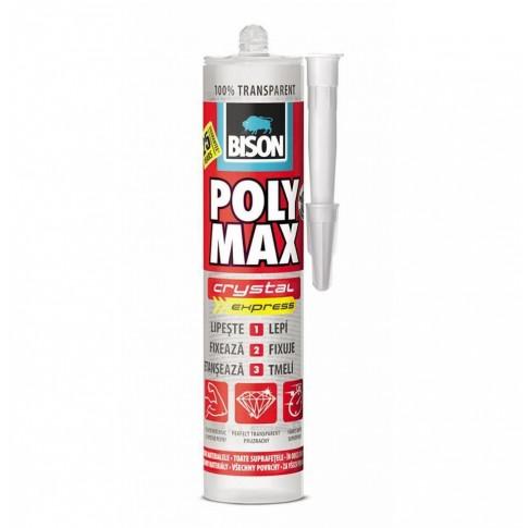 Adeziv pentru suprafete multiple, interior / exterior, Bison Poly Max Cristal, transparent, 280 ml