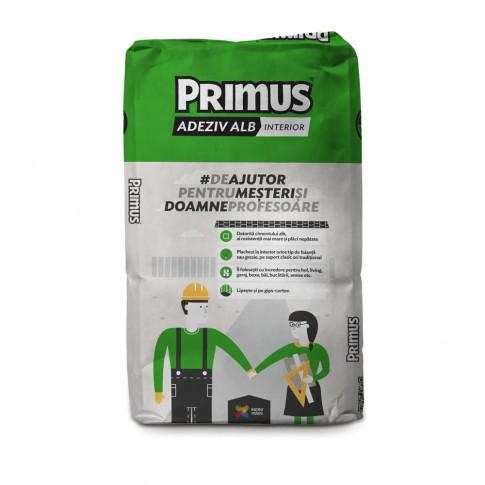 Adeziv gresie si faianta Primus Microgranular, alb, pentru interior, 25 kg