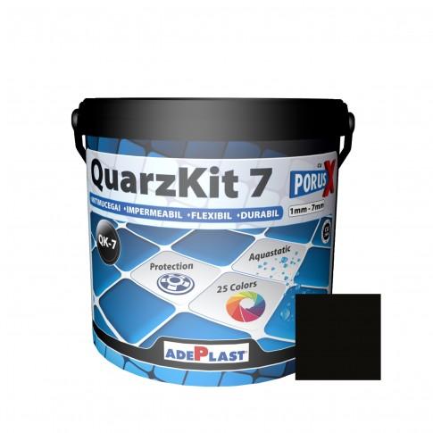Chit de rosturi gresie si faianta Adeplast  QuarzKit 7, negru, interior / exterior, 5 kg