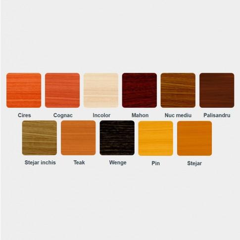 Lac / lazura extra 3 in 1 pentru lemn, Kober Extra, stejar, interior / exterior, 0.75 L
