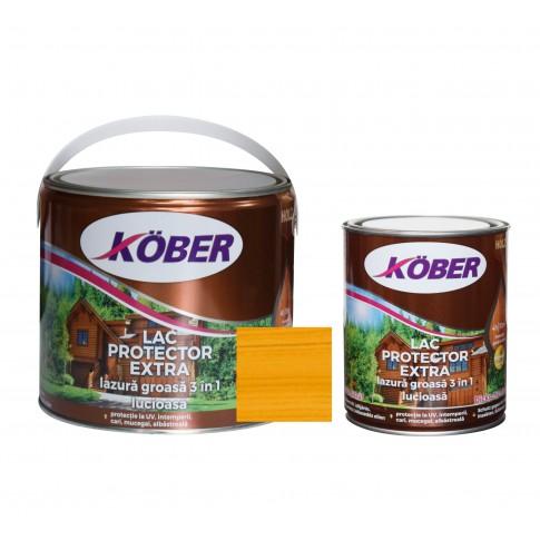 Lac / lazura groasa pentru lemn, Kober Extra 3 in 1, stejar, interior / exterior, 2.5 L + 0.75 L