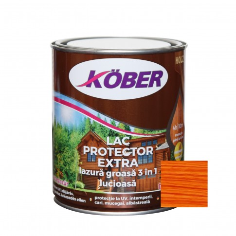 Lac / lazura groasa pentru lemn, Kober Extra 3 in 1, cires, interior / exterior, 0.75 L