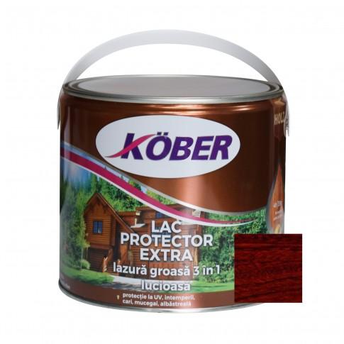 Lac / lazura groasa pentru lemn, Kober Extra 3 in 1, mahon, interior / exterior, 2.5 L