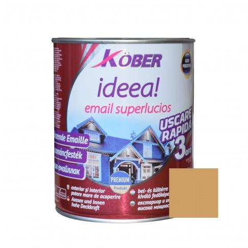 Vopsea alchidica pentru lemn / metal, Kober Ideea, interior / exterior, ocru luminos, 10 L