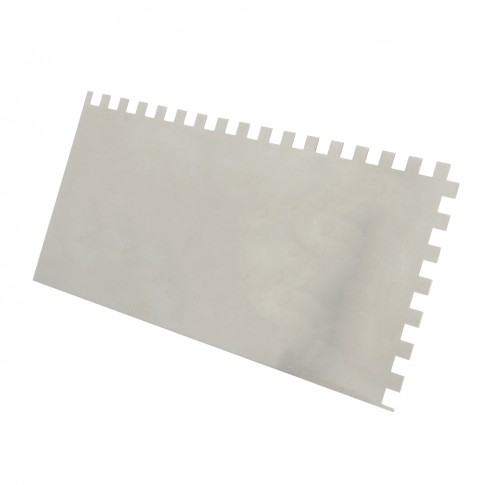 Gletiera inox, cu dinti de 8 mm, Holzer 373, 27 x 13 cm