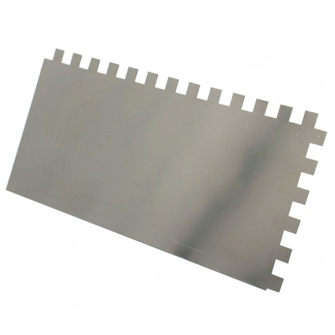 Gletiera inox, cu dinti de 10 mm, Holzer 374, 27 x 13 cm