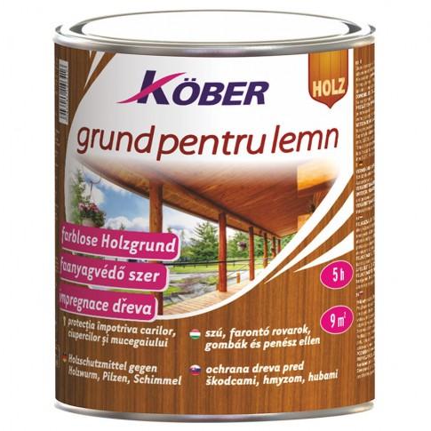 Grund pentru lemn, Kober, incolor, 0.75 L