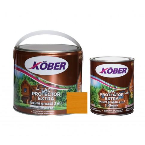 Lac / lazura groasa pentru lemn, Kober Extra 3 in 1, pin, interior / exterior, 2.5 L + 0.75 L