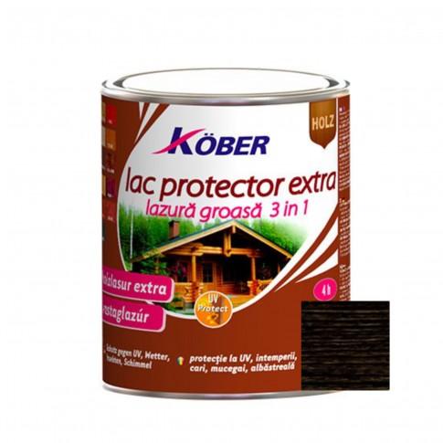 Lac / lazura extra 3 in 1 pentru lemn, Kober Extra, wenge, interior / exterior, 2.5 L