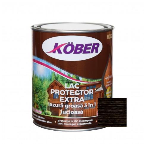 Lac / lazura groasa pentru lemn, Kober Extra 3 in 1, wenge, interior / exterior, 0.75 L