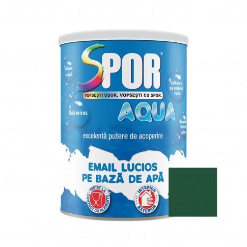 Vopsea acrilica pentru lemn / metal, Spor Aqua, interior / exterior, pe baza de apa, verde, 0.7 L