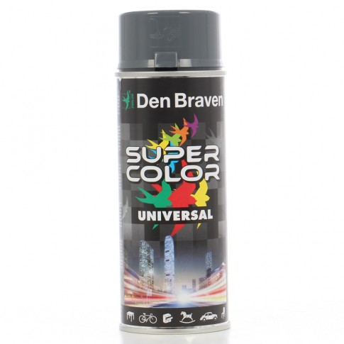 Spray vopsea, Den Braven Super Color Universal, gri metal RAL 7011, interior / exterior, 400 ml