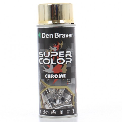 Spray vopsea, Den Braven Super Color Chrome, auriu, interior / exterior, 400 ml