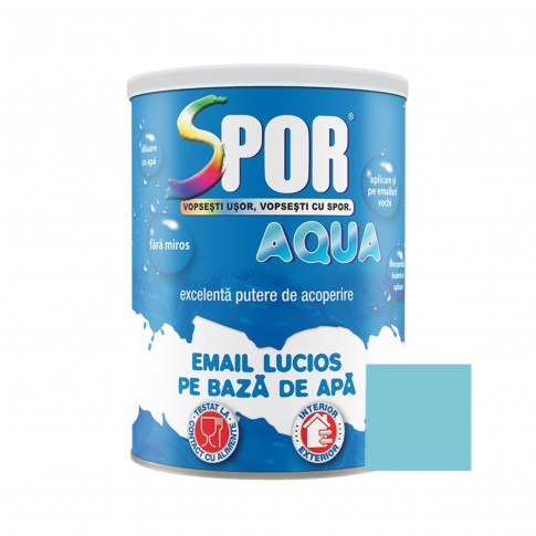 Vopsea acrilica pentru lemn / metal, Spor Aqua, interior / exterior, pe baza de apa, bleu, 0.7 L
