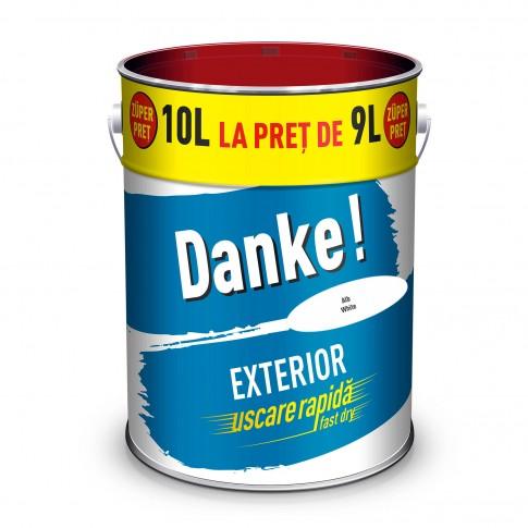 Vopsea alchidica pentru lemn / metal, Danke, exterior, alba, 10 L