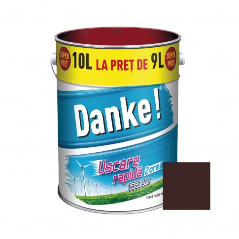 Vopsea alchidica pentru lemn / metal, Danke, exterior, maro ciocolatiu, 10 L