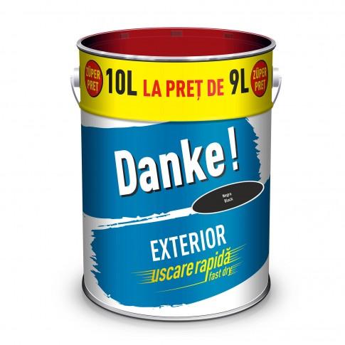 Vopsea alchidica pentru lemn / metal, Danke, exterior, neagra, 10 L