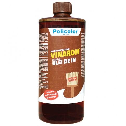 Grund pentru lemn Vinarom Policolor, pe baza de ulei de in, 900 ml