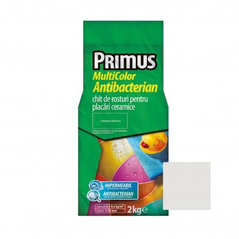 Chit de rosturi gresie si faianta Primus Multicolor Antibacterian B45 snow, interior / exterior, 2 kg