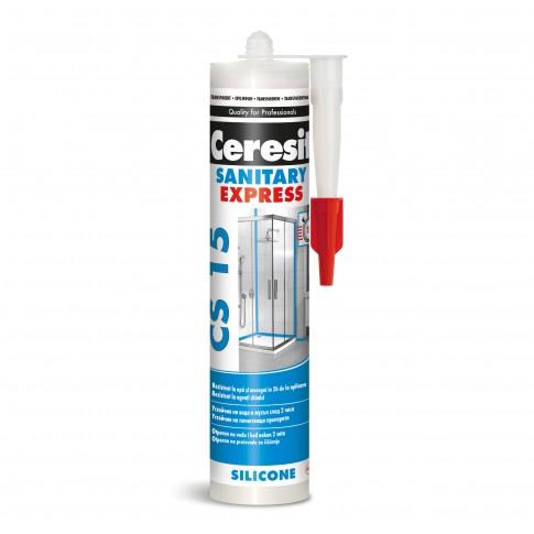 Silicon sanitar, transparent, Ceresit Express CS 15, interior / exterior, 280 ml
