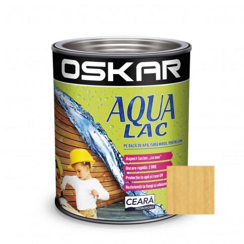 Lac pentru lemn Oskar Aqua Lac, pin, pe baza de apa, interior / exterior, 2.5 L