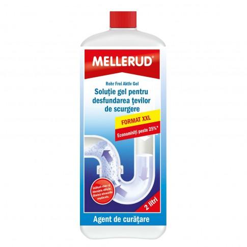 Solutie tip gel, pentru desfundat tevi, Mellerud, 2 L
